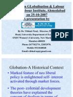 GlobalisatIon & Labour by Prof. Vibhuti Patel