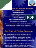 GlobalisatIon & Sex Selective Abortions by Prof. Vibhuti Patel