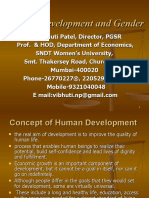 Human Development & Gender by Prof. Vibhuti Patel