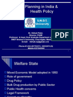 Planning in India & Health Policy by Prof. Vibhuti Patel