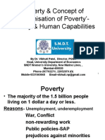 Poverty and  concept of 'Feminisation of Poverty'- Poverty & Human Capabilities by Prof. Vibhuti Patel