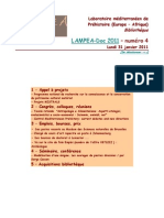 LAMPEA-Doc 2011 – numéro 4 / Lundi 31 janvier 2011