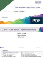 Q-2019.12 UPF Implementation Tools Update Training