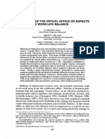 INFLUENCES OF THE VIRTUAL OFFICE ON ASPECTS OF WORK AND WORK LIFE BALANCE.pdf