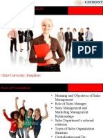 intorduction to sales management