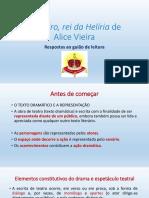 Leandro, Rei Da Helíria de Alice Vieira. Respostas Ao Guião de Leitura