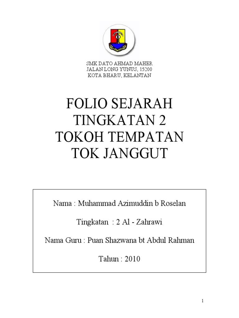 Folio Sejarah Tingkatan 2 Tok Janggut