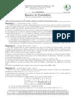 Épreuve Probabilités Session Rattrapage 2019 - SAID BENHMIDA pdf