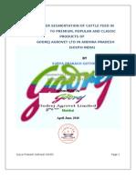 Customer segmentation on premium cattle feed
