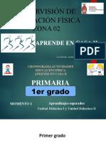 1° PRIMARIA E.F. CRONOGRAMA TRABAJO A DISTANCIA