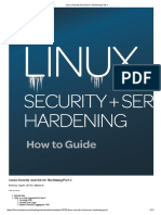 Linux Security And Server Hardening Part-1