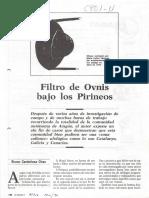 Filtro de Ovnis bajo los Pirineos - Bruno Cardeñosa Chao