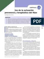 Fundamentos de la actuación preventiva y terapeútica del Flúor.