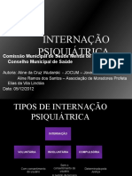 INTERNAÇÃO PSIQUIÁTRICA-Comissão de Saúde Mental-05-12-12-2