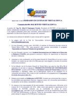 Comunicado 001-2011-RUIVEP-VIRTUAL EDUCA