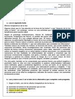 EVALUACIONES LENGUAJE Y COMUNICACIÓN 6to basico pauta