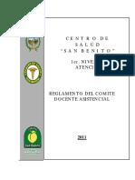 REGLAMENTO  DEL COMITÉ  DOCENTE – ASISTENCIAL