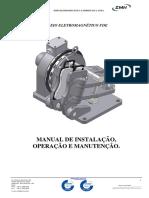 EMH FREIO A DISCO MANUAL MANUTENÇÃO FDE COM ALAVANCA rev sensor
