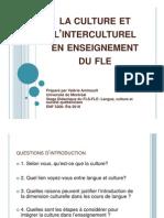 La culture et l'interculturel en enseignement du FLE