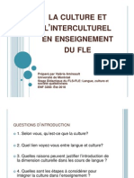 La culture et l'interculturel en enseignement du FLE