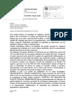 ACTA DE INFORME PRIMER CASO