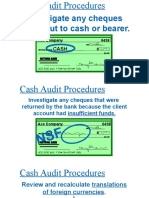 Evidences for Audit of Cash
