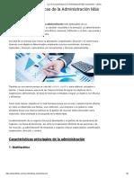 Las 10 Características de la Administración Más Importantes - Lifeder.pdf