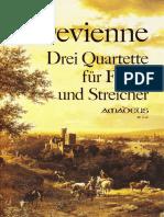 DEVIENNE 3 Cuartetos para fagot y trío de cuerdas FAGOT