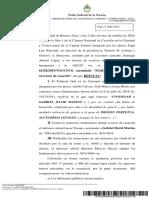 Sentencia de Casación - Sacayán    5-10-2020