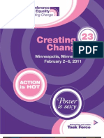 Creating Change 2011 Program