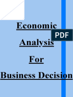 Economic Analysis For Business Decision (1)