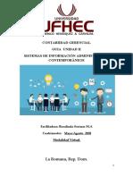 Guia Unidad II  Contabilidad Gerencial - SISTEMAS DE INFORMACIÓN ADMINISTRATIVA CONTEMPORÁNEOS