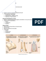 Joints and Articulations Handouts