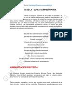 3. ESCUELAS DE LA TEORIA ADMINISTRATIVA
