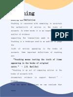 Auditing notes padmasun