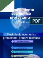 Presentación Movimiento ecuménico protestante