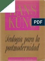 Küng Hans (1998) Teología para la posmodernidad. Madrid Alianza Editorial.pdf