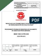 CCCC-PRO-3212- PROCEDIMIENTO PRUEBAS DE RESISTENCIA DE AISLAMIENTO DE CABLES (MEGADO)
