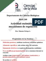 201910 BIOL260 Clase 03 Actividad enzimática y mecanismos de regulación