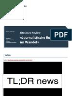 Journalistische Rollen im Wandel