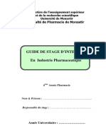 Annexe 88Guide du stage en industrie pharmaceutique