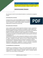 4.- ESPECIFICACIONES TECNICAS I