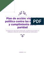 Plan Acción Paridad Violencia Política