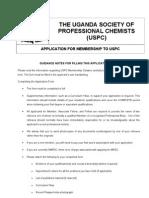 USPC Application Form