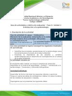 Guía de actividades y rúbrica de evaluación - Unidad 1- Fase 2 - Introducción a la epidemiologia.