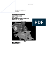 Instrucciones de instalación y mantenimiento bomba vacio Nash SC