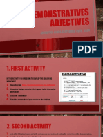 DEMONSTRATIVES ADJECTIVES - Activity