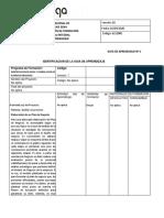 GUIA  DE APRENDIZAJE IDENTIFICACION DE IDEAS Y FORMULACION DE PLANES DE NEGOCIOS