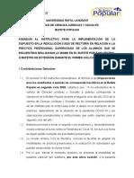 Adendum al Instructivo de Práctica Profesional Extraordinaria - julio 2020