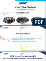 Kebijakan Ujian Nasional dan AKM oleh BSNP